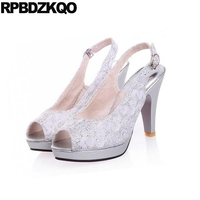 Super Peach 10 42 Ladies Pumps Peep Toe Round Ultra Shoes 11 43 Extreme Gold Slingback Heels Glitter Silver Block High Big Size
