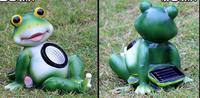 Frog Animal Outdoor solar decoration of frogs Gardening garden villa glass steel sculpture crafts statue home decoration