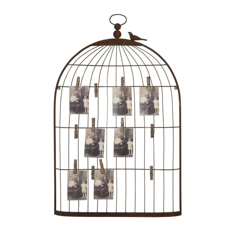 Cage à oiseaux Shabby Chic Panneau D'affichage Mémo Photo Plan de Table De Mariage Titulaire