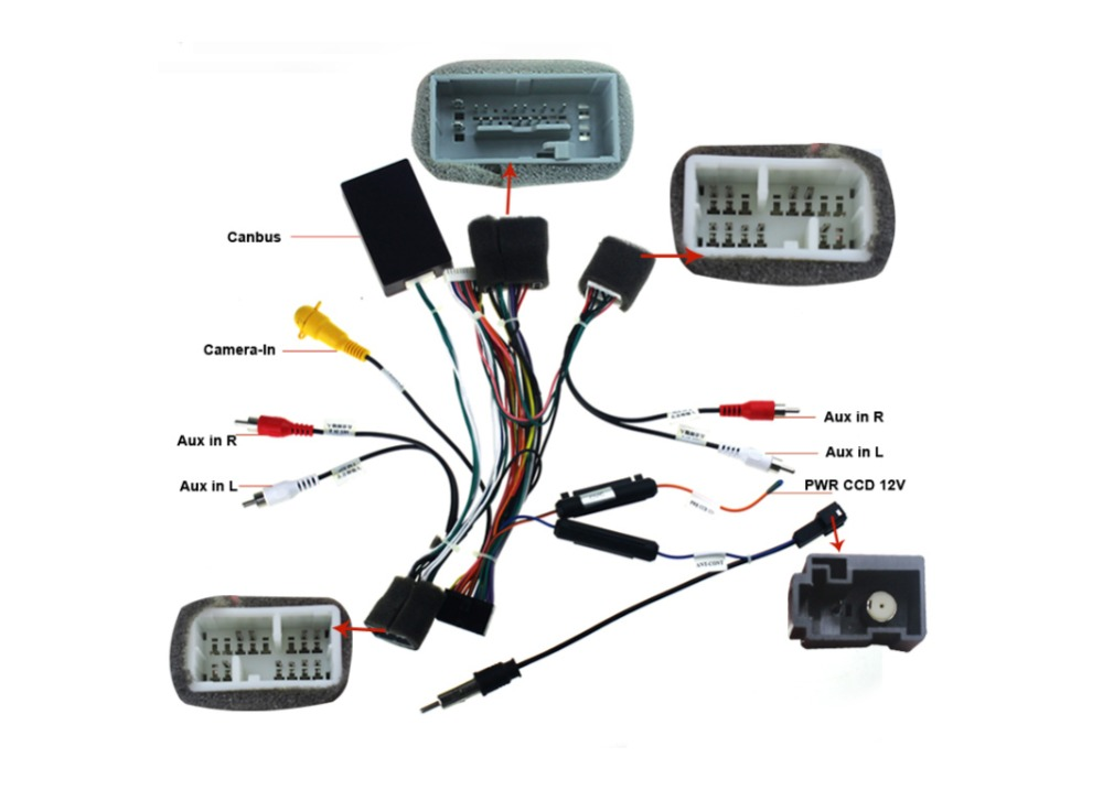 Joying Wiring Iso Harness For Honda Civic Car Radio Power Adaptor Power Cable Radio Plug In