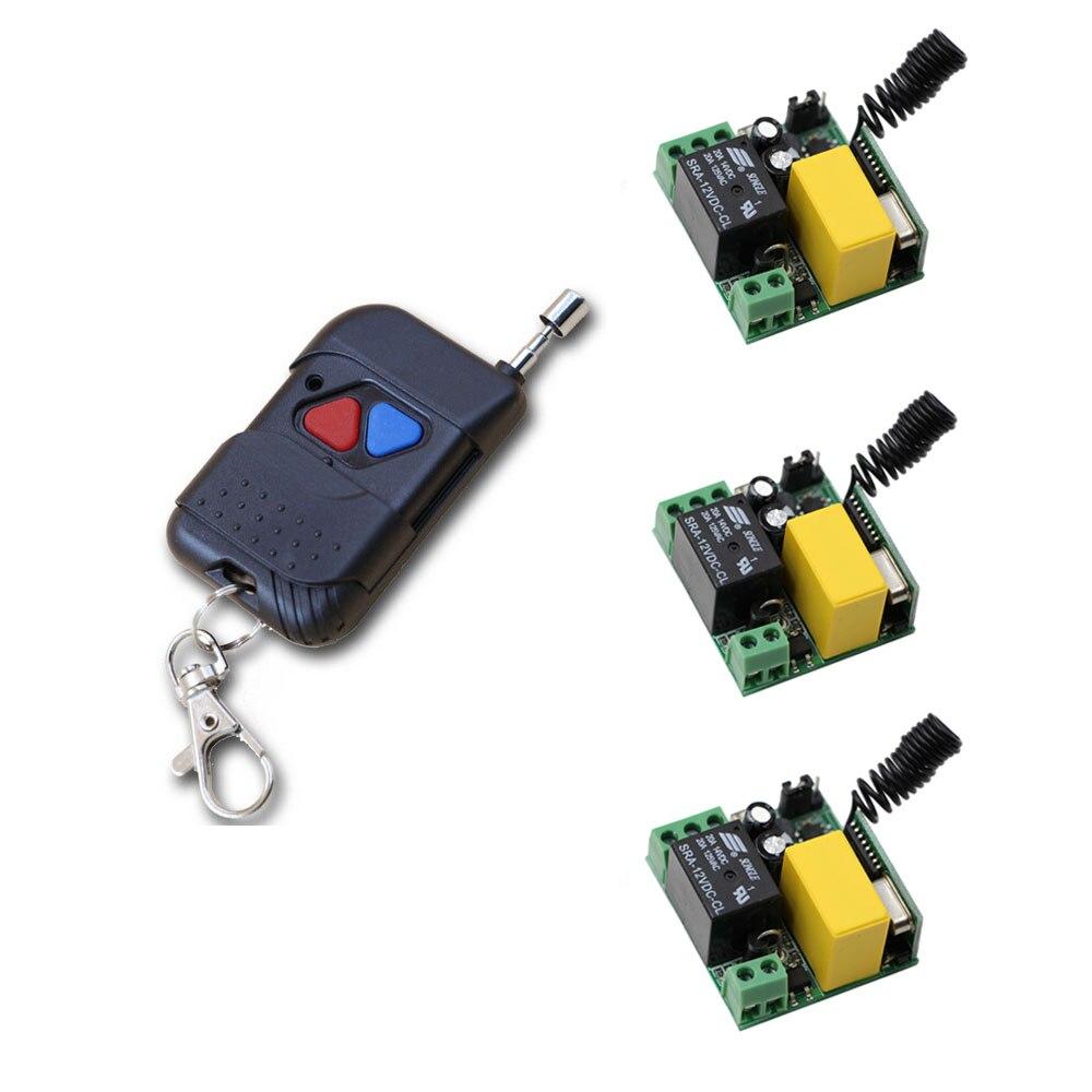 Inteligente Hogar de la CA 220 V 1CH control Remoto del Interruptor de La Lámpar