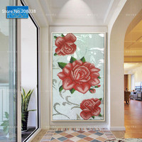 peony Mosaic mural for home /hotel decor luxury glass mosaic art mural for wall