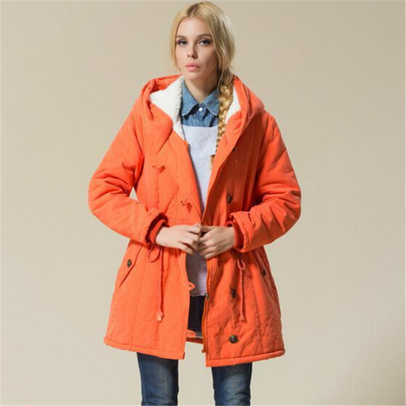 ФОТО Plus Size Women Winter Jackets Cotton Padded Female Version Long Section Cashmere Coat Winter Jackets XXL XXXL XXXXL Parka