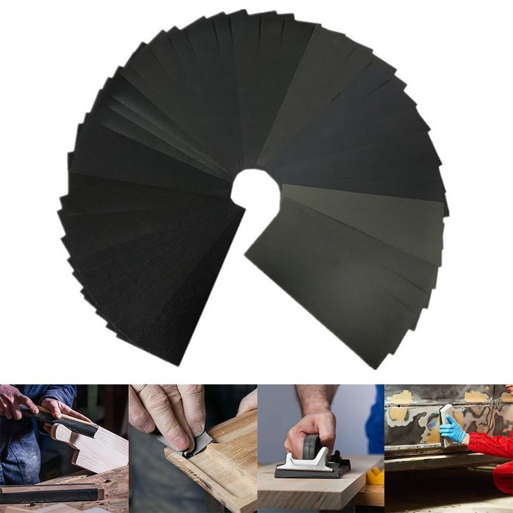 Pokich 28/36/42/72Pcs Sandpaper Abrasive Sheets Water Sanding Paper For Automotive Wood Furniture Finishing 120 To 3000