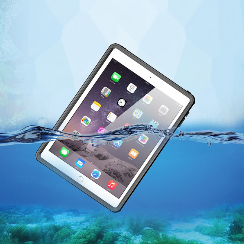 все цены на Full Sealed Waterproof Case for iPad Air 2 Water Resistant Shockproof Cases for iPad Pro 9.7 Inch Diving Underwater Coque