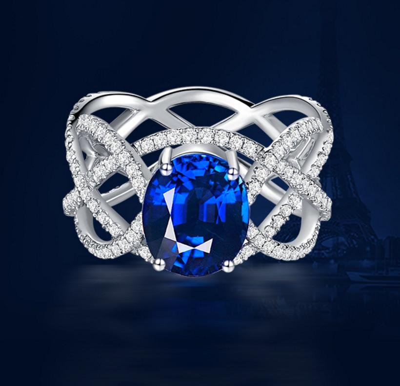 3 carat 925 sterling silver wedding engagement ring sapphire tanzanite diamant finger ring for women US size from 4.5 to 9 (LA)3 carat 925 sterling silver wedding engagement ring sapphire tanzanite diamant finger ring for women US size from 4.5 to 9 (LA)