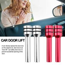 2 Pcs Car Aluminum Alloy Door Lift Universal Button Auto Safety Lock Status Accessories For Products