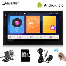 Jansite 7 2 din Car Radio MP5 player Digital Touch screen Android 8.1 Multimedia player mirror GPS Autoradio with Backup camera 2 din android car radio multimedia 7 universal hd multimedia player touch screen autoradio car stereo mp5 bluetooth backup gps