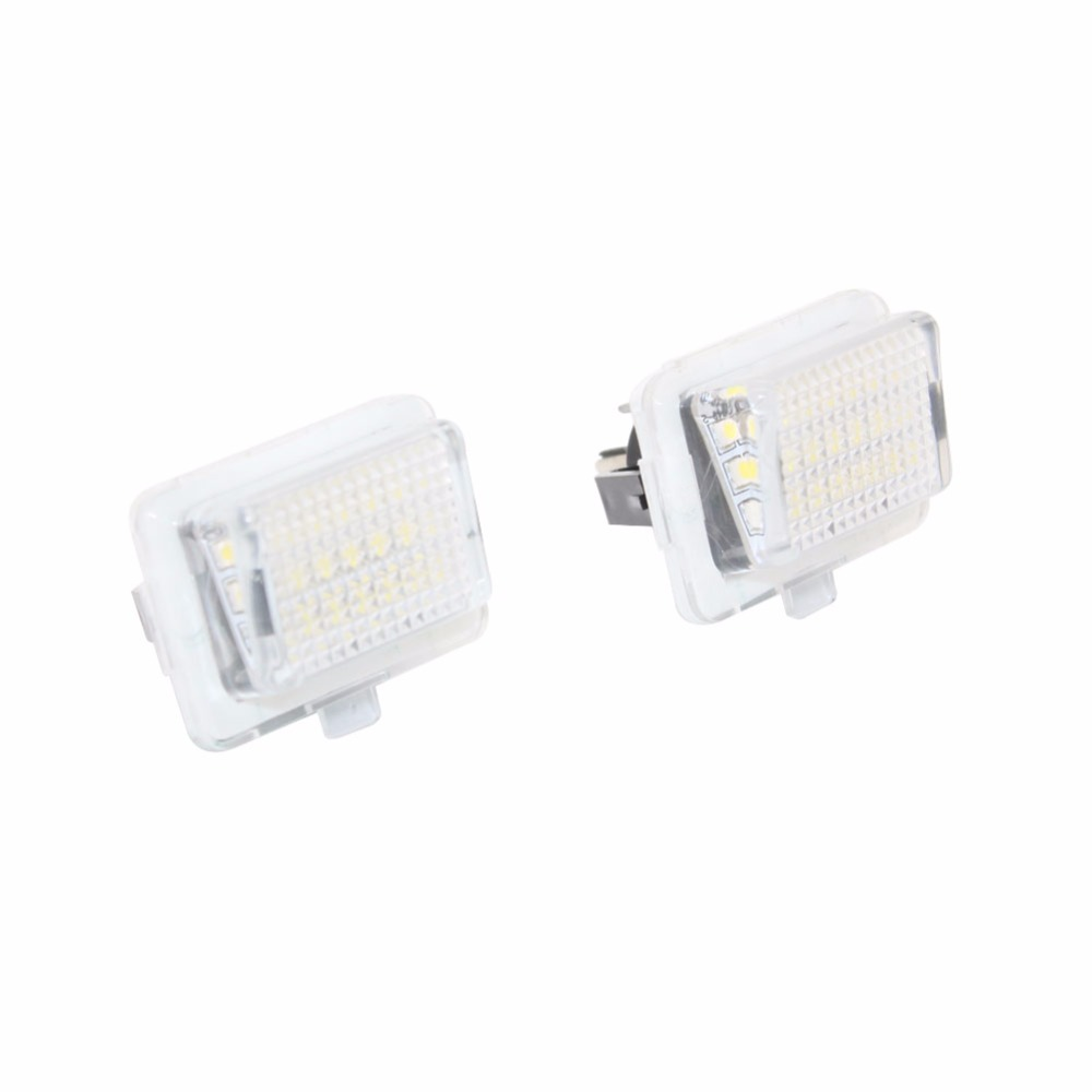 2PCS Error Free Canbus Bright White 18 SMD License Plate Light Lamps For Mercedes C Class E Class S Class W204 direct fit white led license plate light lamps for honda civic city legend accord4d canbus free no obc error code