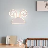 Cartoon white modern led wall lamps iron acrylic wall light bedroom light bedroom lamp applique murale luminaire wandlamp