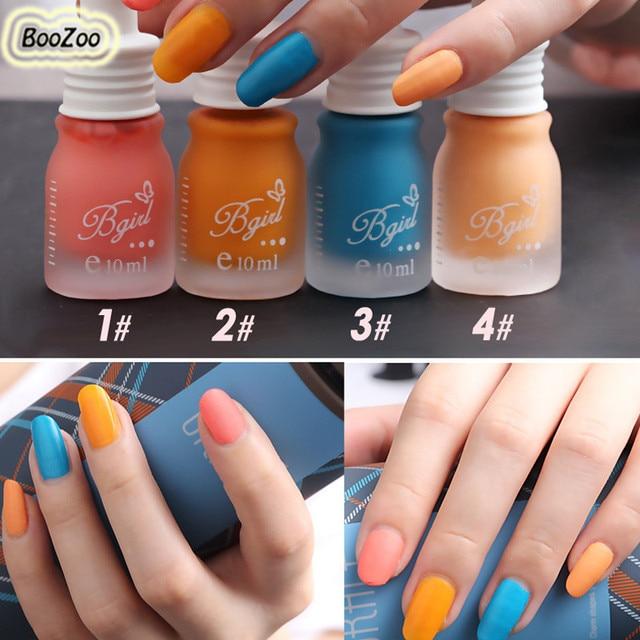 BlueZoo 1 Bottole Candy Color Women Gel Matte Milk Bottle Nail ...