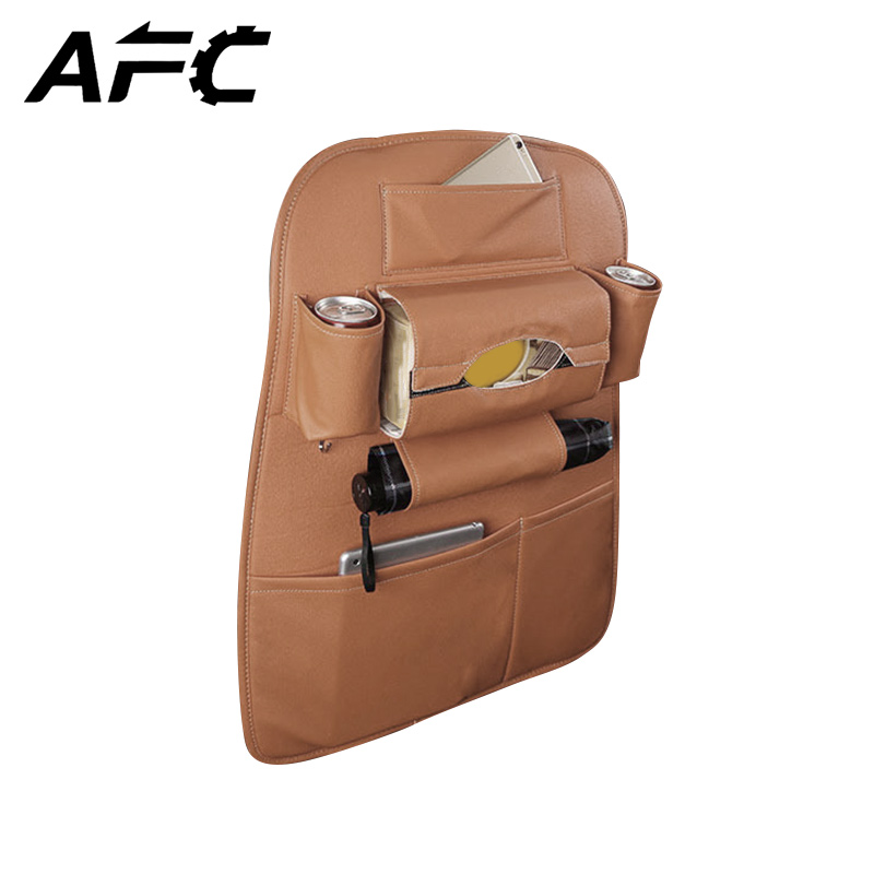 New Car Seat Storage Bag Hanging Bags Car Seat Back Bag Car Child Safety Seat PU Leather Waterproof Multi-function Storage Box