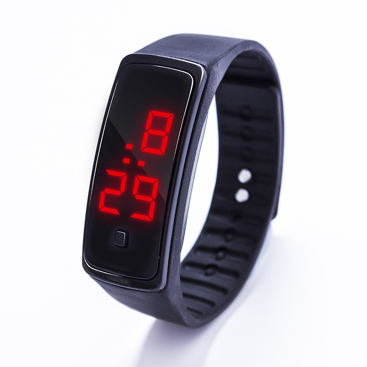 New LED Electronic Bracelet Watch, Korean Jelly, Two Generation Sunglasses, Silicone Watch, Foreign Trade Children's Watch.