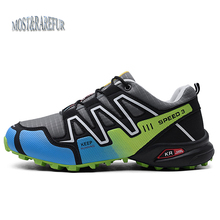2019 New Luminous shoes Solomon series explosion-proof hiking shoes Chaos large size outdoor shoes Non-slip shoes