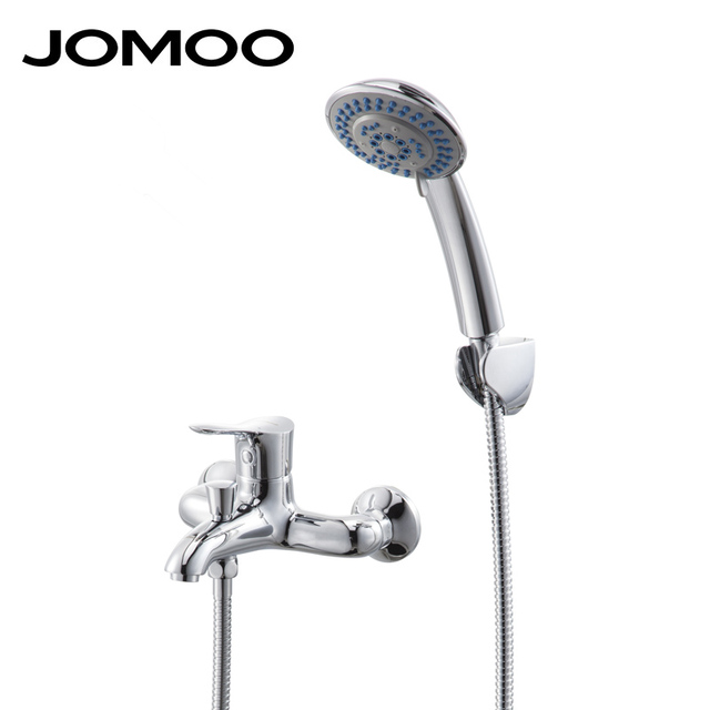 JOMOO Chrome Single Handle Wall Mounted Shower Faucet Shower Set ...