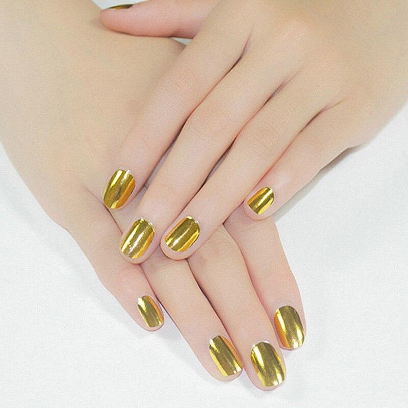 Nail Art Sticker Paper Mirror Gl Foil Tips Decal Gel Polish Nails