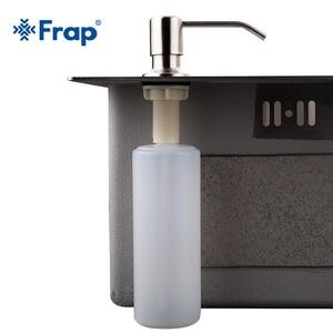 Image 5 - Frap Deck Mounted Hand sanitizer sink Soap Dispenser Stainless Steel Liquid Soap Bottle Kitchen Accessories
