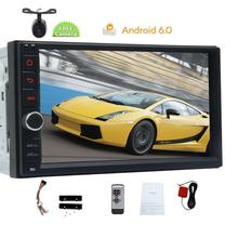 in Dash Android 6.0 2Din Capacitive Screen Car Stereo NO DVD Player GPS Navigation Wifi for Universal 2 din Cars Backup Camera