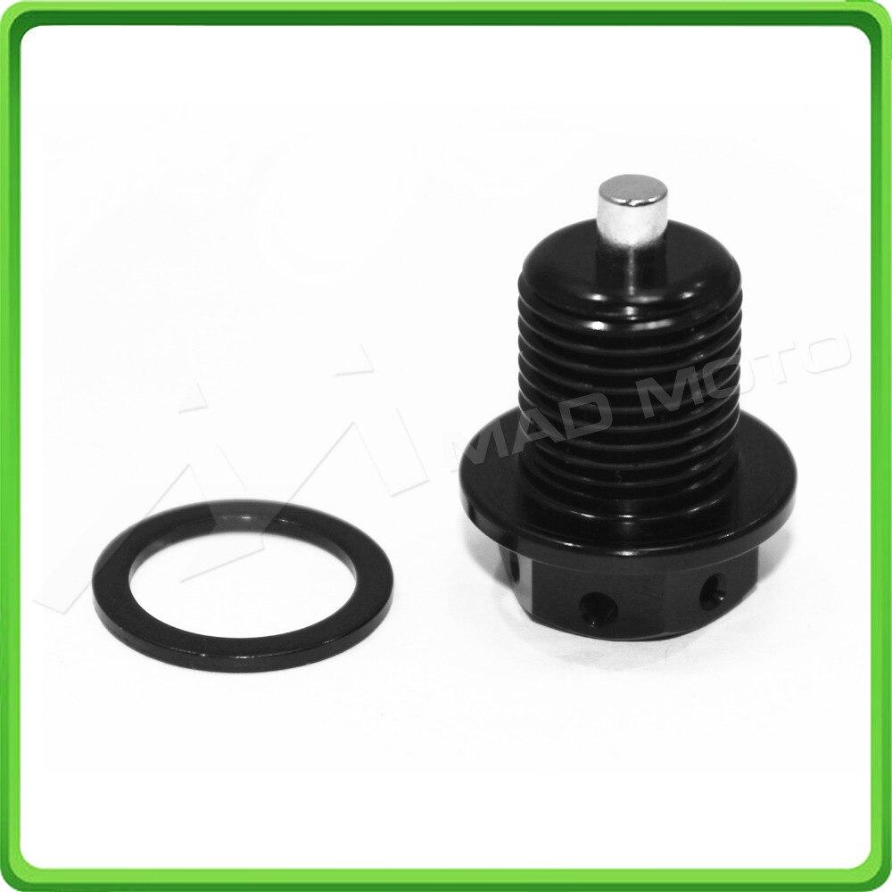Magnetic Oil Sump Oil Drain Plug Bolt M16x1.5 x17mm For APRILIA SHIVER 750 2007 2008 2009 2010 2011 2012 2013 2014 2015 Black magnetic oil drain sump plug m14 x 1 25 for suzuki gsxr 600 750 1000