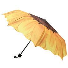 2019 Original 3D Sunflower Umbrella Women 24cm Three Folding Windproof Wasterproof Anti UV Parasol Sunny Rainy Women's Umbrella