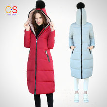 Women Coat With Full Zipped Jacket For Ladies Hooded Coat Slim Fit Long Style Female Outerwears Fur Parkas