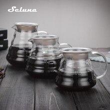 V60 Pour Over Glass Range Coffee Server 360ml 600ml 800ml Carafe Drip Pot Kettle Brewer Barista Percolator Clear