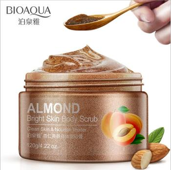 1PCS almond skin facial scrub cleansing Hydrating face Scrub Exfoliating Lotion Moisturizing Mud Exfoliating Gel Cosmetics face washing product topicrem t0107 facial cleansing wash gel scrub skin care