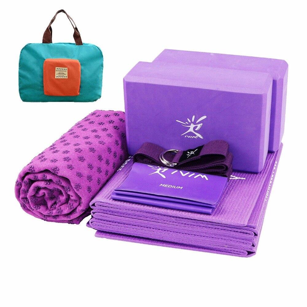 Yoga Block Kit Yoga Pilates Accessories 7pcs Yoga Set