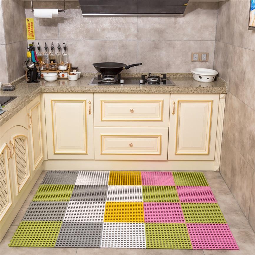 2018 Non-slip Mats Kitchen Bathroom Carpet Non-Slip Household Ground Rug For Bathroom Kitchen Bedroom 30*30cm Dropshipping 0116