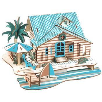 DIY creativo corte láser 3D villa de bali rompecabezas de madera juego con juguetes educativos de aprendizaje juguetes de ensamblaje para niños rompecabezas juguete para niños