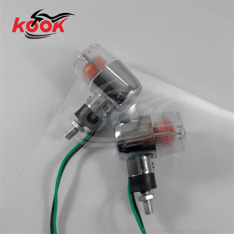 transparent lens pro motorcycle Turn signal indicator motorbike LED yellow lighting Front Rear motocross flashers Accessories