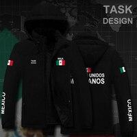 United Mexican States Mexicomens Mexico MX MEX parka men winter jacket mens coat clothing fur hooded snow windbreaker bomber new