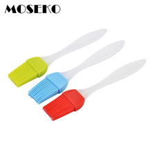 MOSEKO 2PCS Kitchen Silicone Pastry Brushes Baking BBQ Barbeque Basting Brush Tools Cake Accessories
