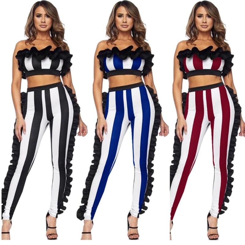 2a0e59f288cf Cheap Conjunto de chándal de dos piezas para mujer camiseta sin tirantes + pantalón  largo para