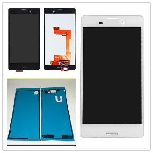 JIEYER 5.0 blanc ou noir Pour Sony Xperia M4 Aqua E2303 E2353 E2333 Écran lcd Écran Tactile avec Digitizer Assemblée Adhésif