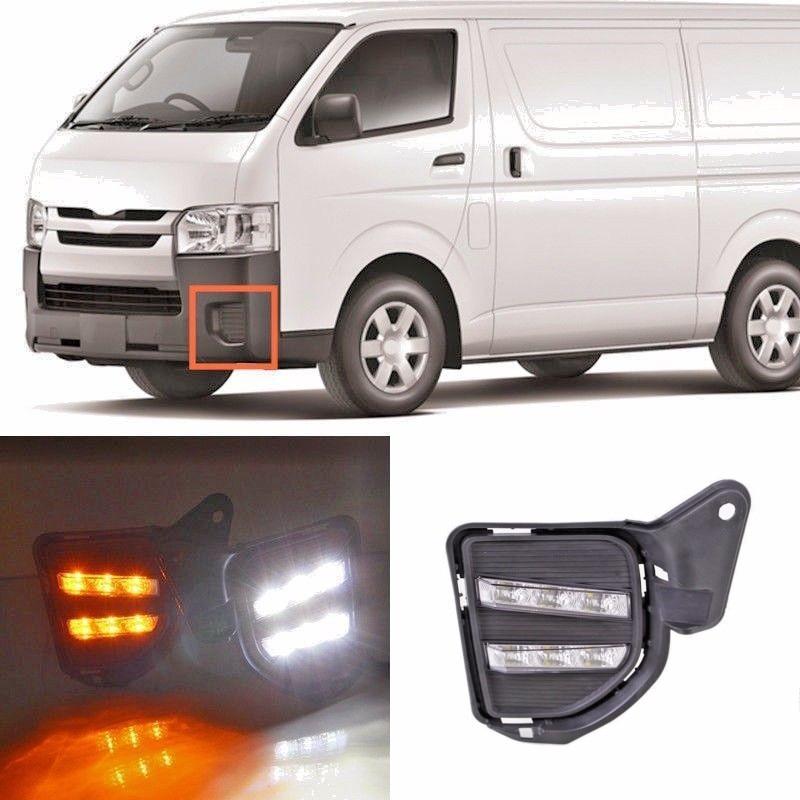 JanDeNing Car LED daytime running lights For Toyota Hiace 2014 2015 2016 DRL LED Fog Light