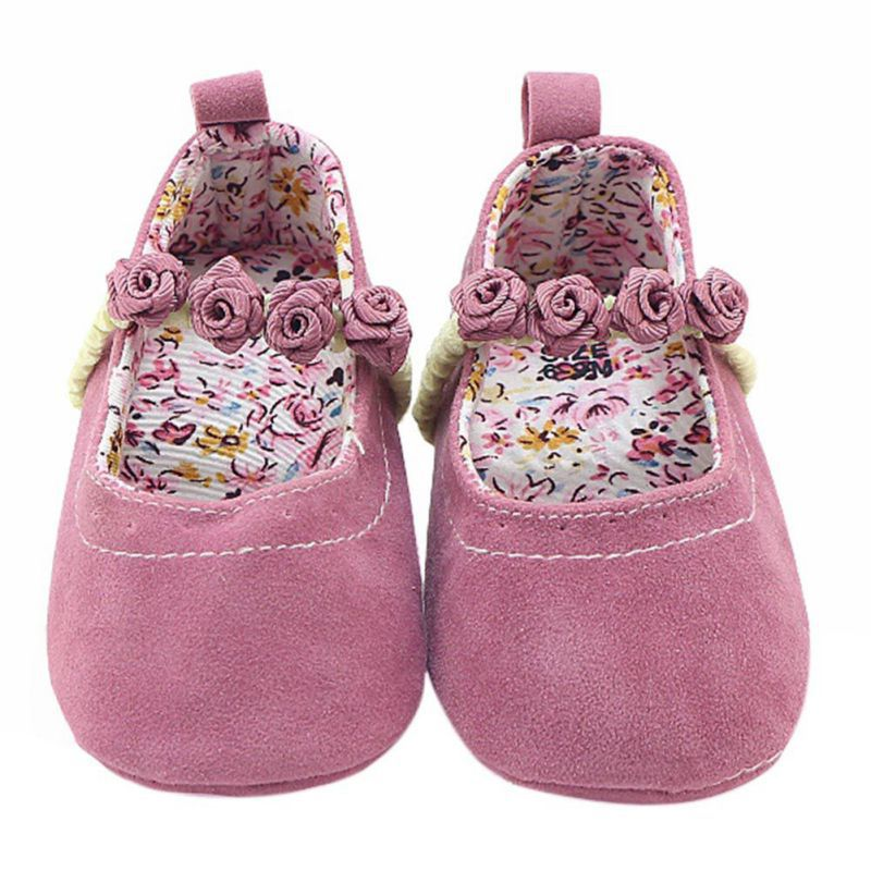 WEIXINBUY Autumn Winter Toddler Baby Gril Shoes Bow Princess Solid Soft Sole First Walkers Crib Shoes Sneakers 0-12M