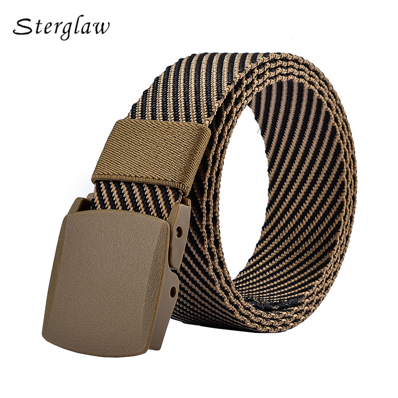 2018 Limited Sale Designer Belts High Quality Twill Jacquard Canvas For Jeans Modeling Belt Man Tactical Cinto Masculino B011