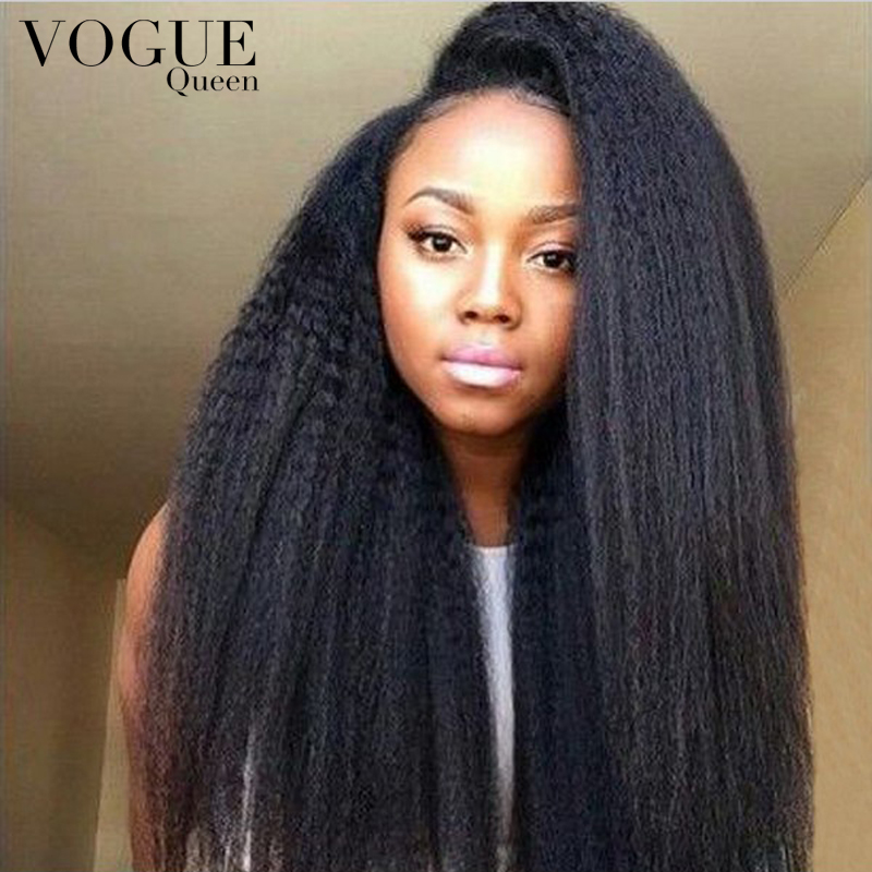 Vogue Queen Italian Yaki Wig Full Lace Glueless Brazilian