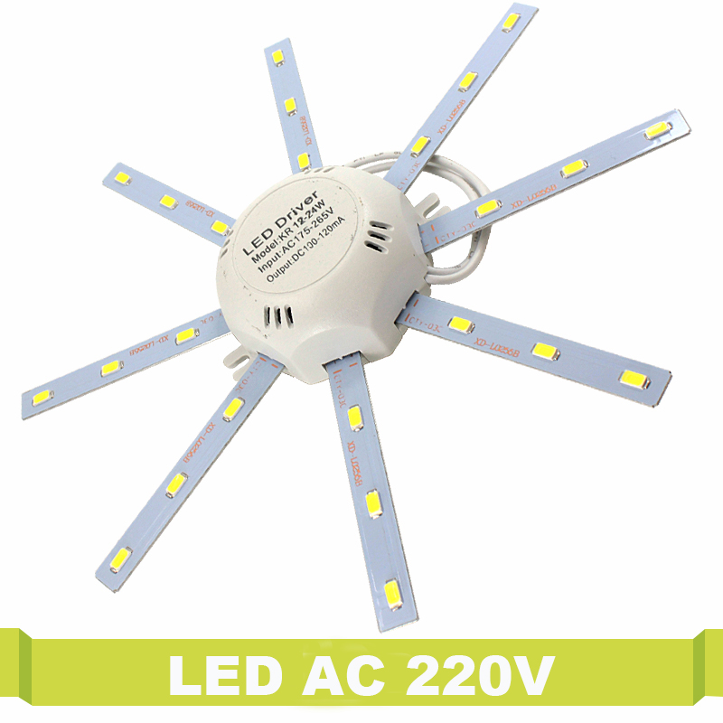 LED Ceiling Lamp Octopus 220V 12W 16W 24W Energy Saving 5730 Light Board Round Lighting Source