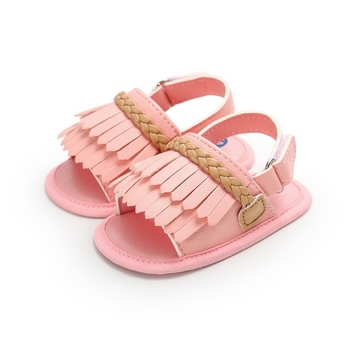2019 Infant Baby Toddle Baby Girls Shoes PU Leather Tassel Soft Bottom Crib Anti-slip Summer Shoes 5