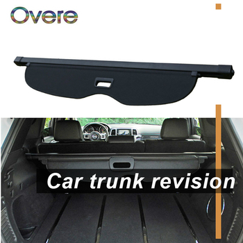 OVERE 1Set Car Rear Trunk Cargo Cover For Jeep Grand Cherokee 2011 2012 2013 2014 2015 2016 Security Shield Shade Accessories car rear trunk security shield shade cargo cover for ford edge 2009 2010 2011 2012 2013 2014 2015 black beige