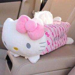 Śliczny rysunkowy kotek domowy samochód pudełka na chusteczki pojemnik do przechowywania pojemnik ręcznik serwetka papiery torba Box etui Car Styling w Pudełka na chusteczki od Samochody i motocykle na