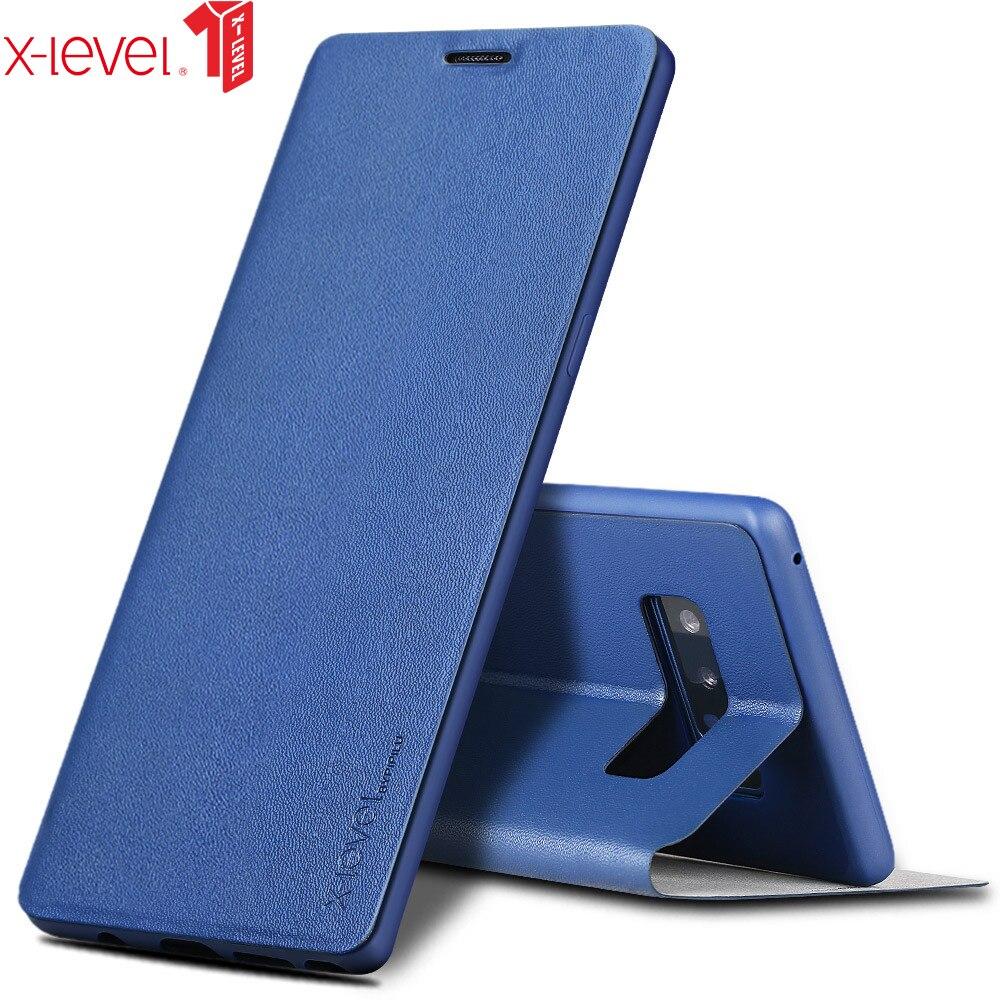 X-Nível Estojo de Couro Flip Book Para Samsung Galaxy A30 A50 A70 A40 A20 A10 ultra Slim Para m30 M20 M10 A7 A8 2018 Plus A9 A6