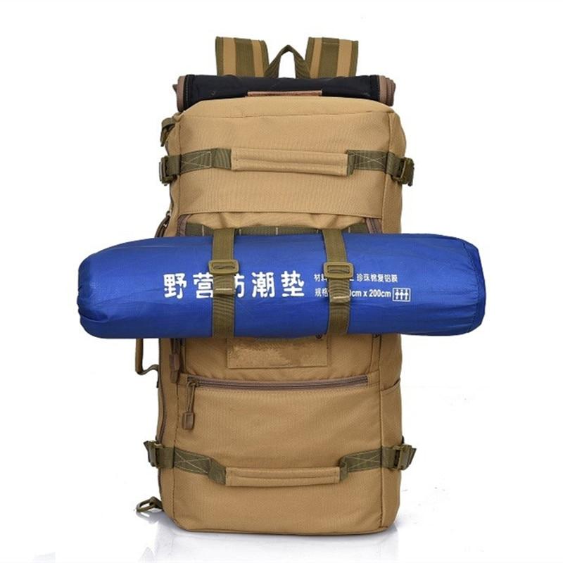 50L randonnée en plein air Camping voyage multifonction étanche sac à dos sac à main sac hommes Camouflage armée tactique sac à dos