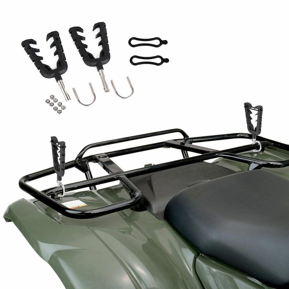 Quad Bike Single Gun Bow Rack Holder Motorbike ATV UTV Firearm Shooting V Grip Single Handlebar