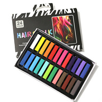24 Colors Set Hair Chalk Dye Pastels Soft Hair Hot Crayons Kit Fashion Temporary Hair Extension