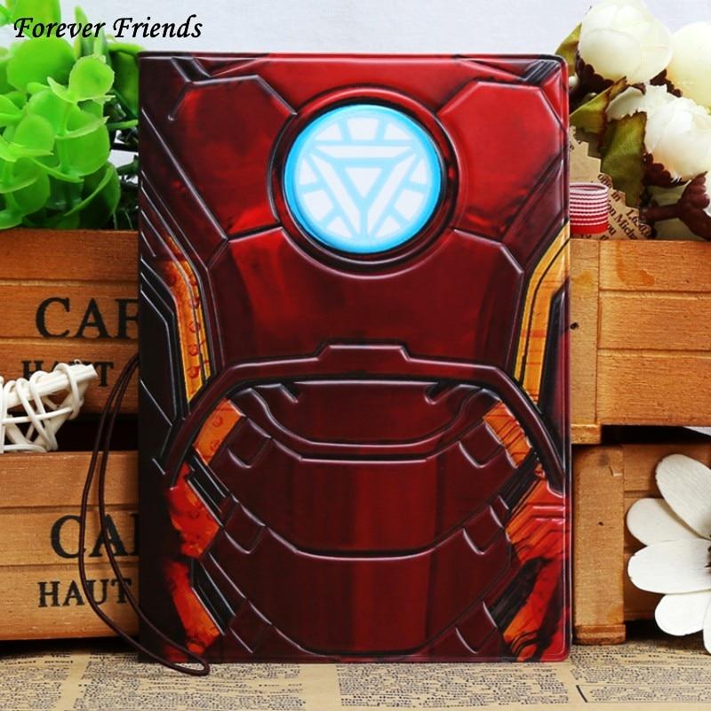 Marvel Super Hero Man Iron Iron Man cartoon short paragraph passport, Hong Kong and Macao passport protection cover цена и фото