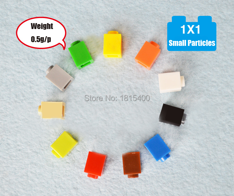 100pcs/lot Assembling Toys Plastic Building Blocks 1*1 Small Particles Educational Learn ...