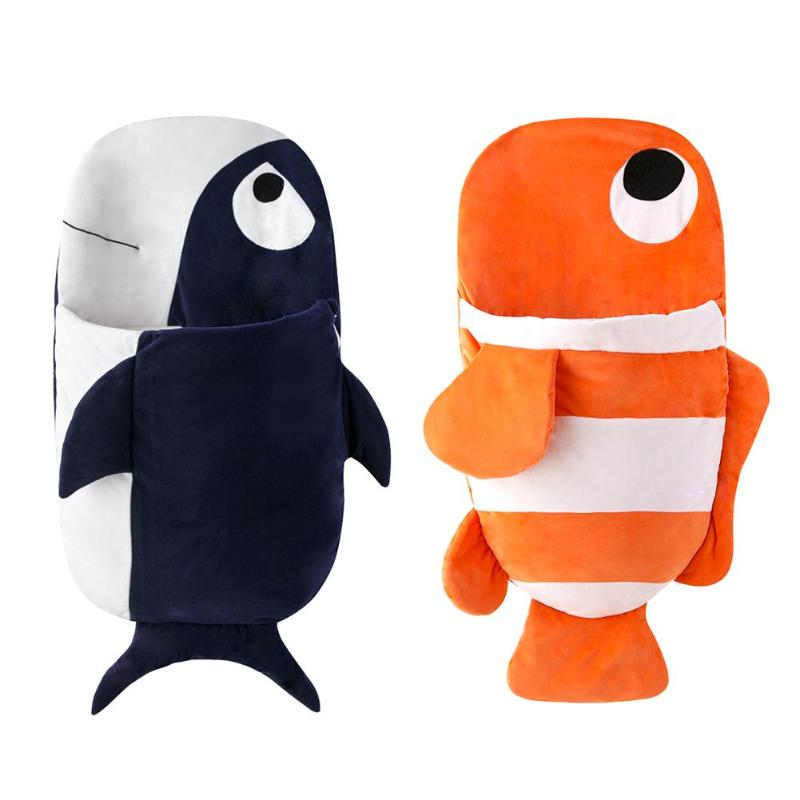 Cute Baby Fish Sleeping Bag Stroller Blanket Newborn Baby Sleeping Bag comfortable Infant Swaddle Wrap Children Bedding Tool цена